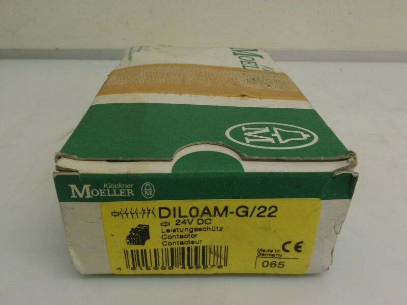 Moeller DIL0AM-G/22 24VDC Contactor New Open Box