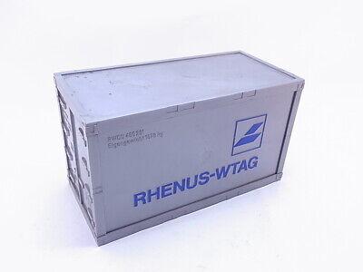 91579 Rhenus-WTAG 20 Fuß Container 23cm silber 1:26 bis 1:27 für LGB Gartenbahn