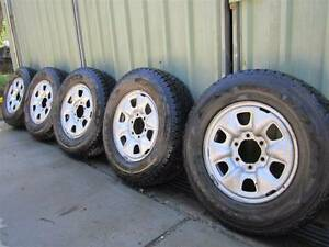 TOYOTA HILUX STEEL RIMS & TYRES x5 Burringbar Tweed Heads Area Preview