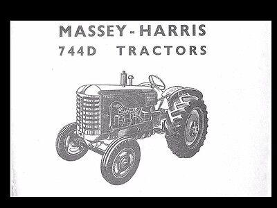 MASSEY HARRIS 744D TRACTOR PARTS MANUAL w/ Diagrams for 744 D Diesel - Massey Harris Tractor Parts