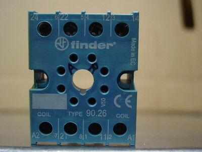 Finder 90.26. Relay Socket 10 - Amp 250 Volt