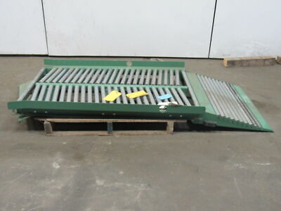 Roach Swivel Manual Diverting Gravity Roller Conveyor 72 X 35