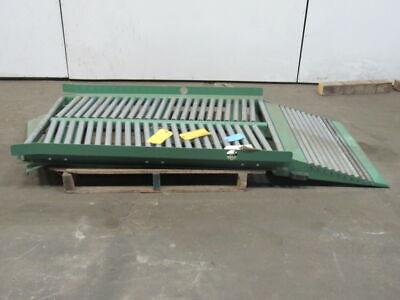 Roach Swivel Manual Diverting Gravity Roller Conveyor 72 X 35