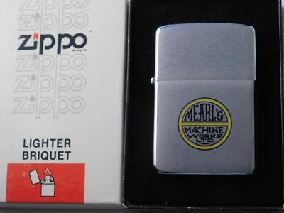 ZIPPO LIGHTER NIAGARA FALLS CANADA VINTAGE BOX MEARLE'S MACHINE WORKS ADVERTISER