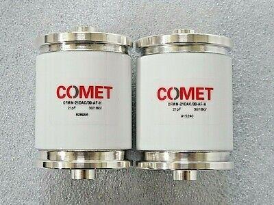 Lot Of 2 Comet Vacuum Capacitor Cfmn-21dac30-af-h 21pf 3018kv
