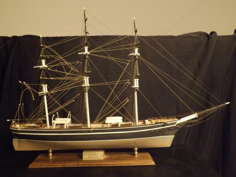 Piel Craftsmen Cutty Sark Clipper Wooden Ship Model Hand Made New England VGC