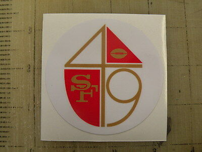 Vintage NFL 49ers football logo sticker decal