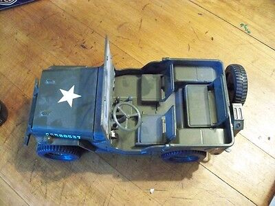 WWII Willys Army Jeep Deluxe Alarm Clock Working Horn Lights