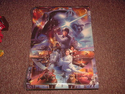 Star Wars 30Th Anniversary Poster Artwork Collage Size 22 5 X 36