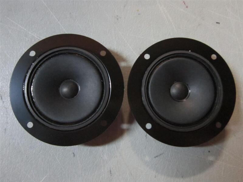 """NEW (2) 3"""" Cone Tweeter Speakers.4"""" frame.Replacement Pair.Fisher.Curtis.Sharp"""