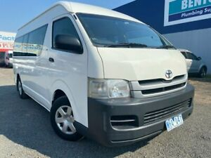 2008 Toyota HiAce TRH223R MY07 Upgrade Commuter White 4 Speed Automatic Bus Hoppers Crossing Wyndham Area Preview
