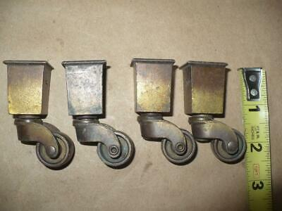 Four Vintage Furniture Roller Casters