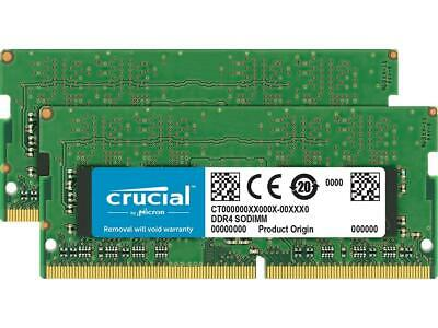 Crucial 32GB (2 x 16GB) DDR4 2666MHz DRAM (Notebook Memory) CL19 1.2V DR SODIMM