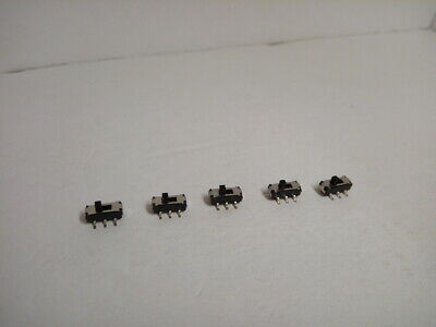 5x Pack Mss22d18 Mini Miniature Smd Smt Slide Switch 2p2t 6 Pin 2mm Handle Dvd