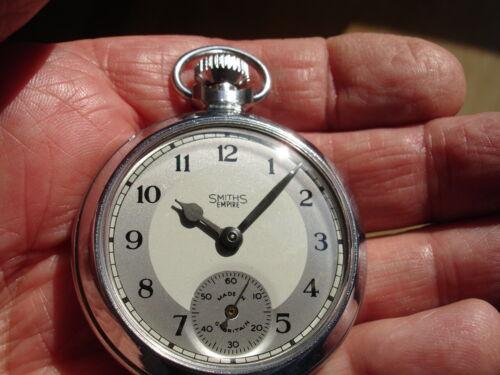 "Excellent rebuilt 1965, Smiths ""Empire"" Pocket Watch."