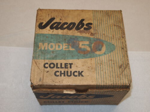 "JACOB MODEL 50 COLLET CHUCK, 10 COLLETS (100""-1.062""), 1 1/2"" X 8 TPI SOUTH BEND"