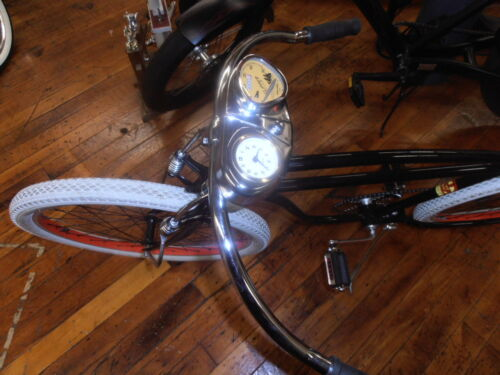 Stewart Warner bicycle speedometer and clock. COOL bike accessory SCHWINN ETC.