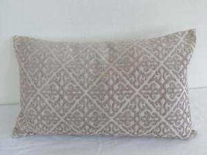 Classic Scrolls Beige & Antique White Oblong Rectangle Cushion Cover 30x50cm