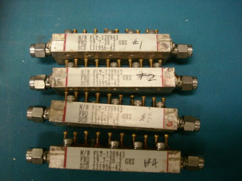 RF microwave tuneable band pass filter 19.95 GHz CF.  500 MHz BW  sma m/m 4avail