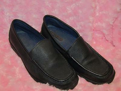 BLACK LEATHER SMART SHOES - UK Size 6
