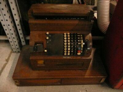 Antique National Cash Register model 6084(16)r1-L-2sc circa 1940's 2 drawer