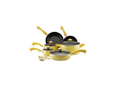 - Paula Deen 15-pc. Nonstick Signature Porcelain Cookware Set, Butter