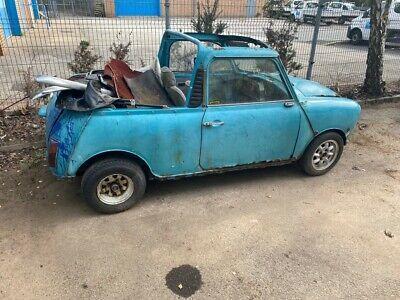 Morris Mini Roadster Cabriolet Barn Find Project 1974