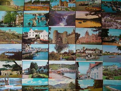 100 Used Postcards of UNITED KINGDOM. 1960's - 1980's. Standard size.