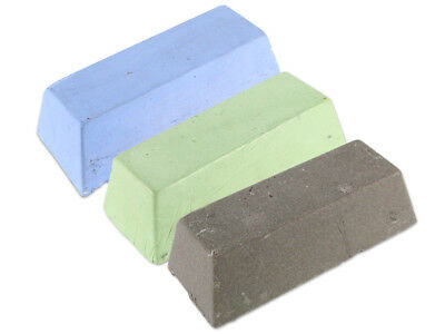 Unipol Universal Polierpasten Set 3-tlg.  Metalle, Vorpolieren, Glanz, Hochglanz