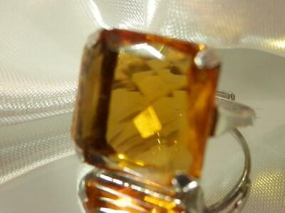 1940s Jewelry Styles and History WOW Vintage 1940's Sterling Silver Adj Size Deco 15ct Crystal Ring  44AG9 $37.99 AT vintagedancer.com