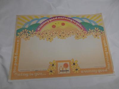 Old Vtg 1980's McDONALDS Fast Food Restaurant PLACEMAT Advertising Sunny Morning