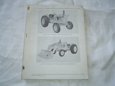 John Deere 1010 Industrial Tractor Loader Parts Catalog Book Manual