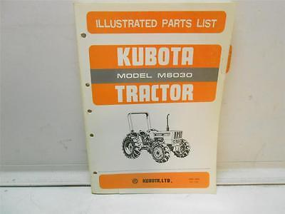 Kubota Model M6030 Tractor Illustrated Parts List