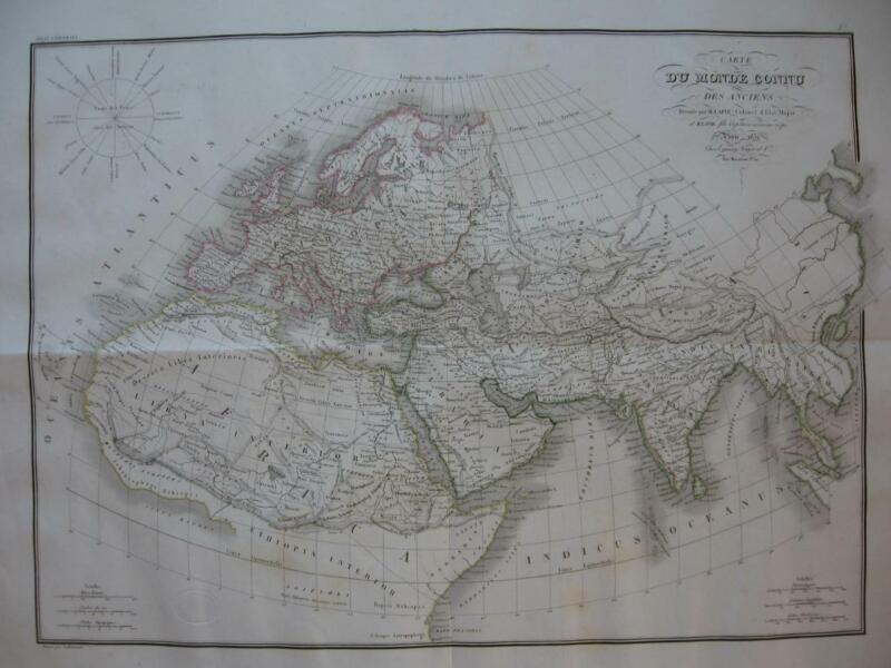 1832 - LAPIE - Large map  ANCIENT WORLD