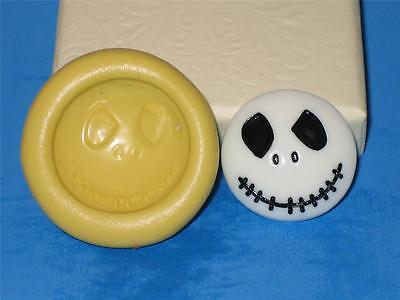 Nighmare Before Christmas Jack 2D Halloween Push Mold Silicone A308 CupCake ()