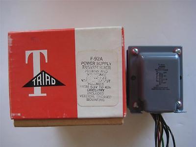 Triad Power Transformer F-92a Secondary 10-20 40 Vac Ct 1 A Pri 115 V Rectifier