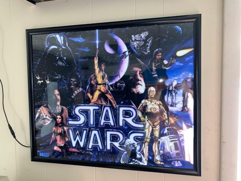 Star Wars Arcade Lighted Led Back lit Wall Sign. New. Excellent Condition
