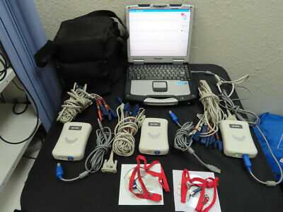 Lot Of 3 Avante Dre Velocity 12-channel Pc-based Ekgecg With Software