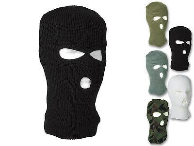 Mil-Tec Balaclava Pan 3-Loch Sturmhaube Maske Skimaske Schwarz
