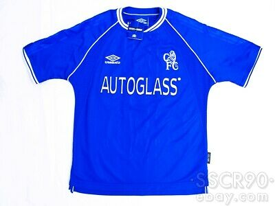UMBRO Chelsea 1999-01 Blue Home Football Shirt Soccer Jersey image