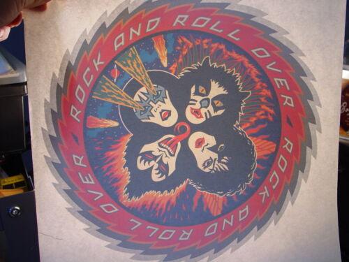 KISS VINTAGE 1976 ROCK & ROLL OVER IRON ON TRANSFER ACE PETER GENE PAUL K-1