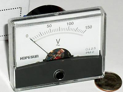 One New 150 120 Vac Ac Volt Analog Pointer Needle Line Panel Meter Voltmeter Usa