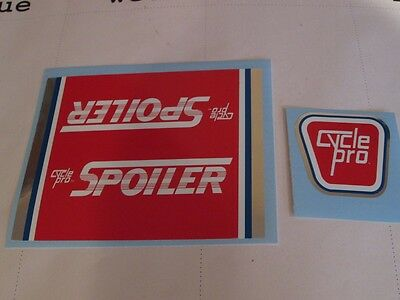 CYCLE PRO Foiler or Spoiler DECAL SETS - Choice either pair for sale  Shipping to India