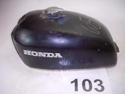 Used 1976 Honda CB750K Gas Fuel Tank Repaint Black With Cap WT103