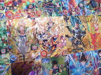 Lot 100 Cards Dragon Ball HEROES Common, Rare, Guaranteed Holo SR, Promo Card