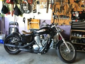 2002 honda shadow bobber style!!! Must see