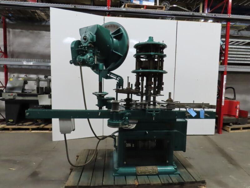CAPEM Automated Inline Bottle Chuck Capper Machine 230/460V 3Ph