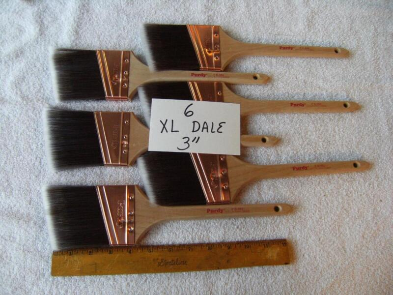 """Purdy paint brush lot of  6  XL Dale  3"""".   No covers.  Absolutely the best $$$!"""