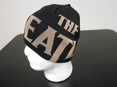 NEW w/tags Adult OSFA The Beatles Black Reversible Knit Beanie