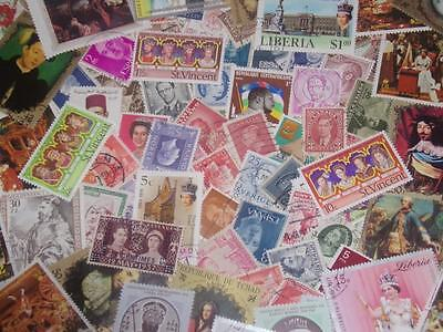 LARGE BEAUTIFUL COLLECTION OF KINGS+QUEENS WORLD STAMPS!